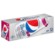 Diet Wild Cherry Pepsi 12 Ounce Cans (Pack of 24)
