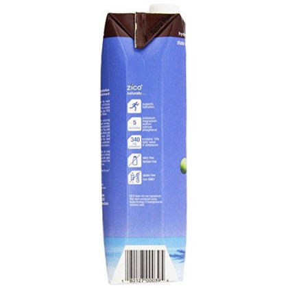 Zico Pure Premium Coconut Water, Chocolate 33.8 Ounce (Pack Of 6)
