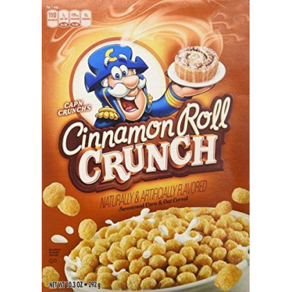 Quaker Cap'N Crunch Cinnamon Roll Crunch Cereal