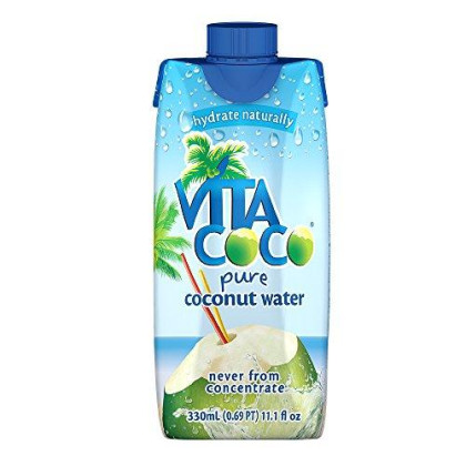 Vita Coco Coconut Water, Pure - Naturally Hydrating Electrolyte Drink - Smart Alternative To Coffee, Soda, And Sports Drinks - Gluten Free - 11.1 Ounce (Fridgepack Of 12)