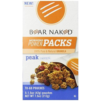 Bear Naked To Go Pouches, Original Cinnamon Protein Granola, 7.5 Ounce