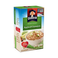 Quaker Instant Oatmeal Apple Cinnamon 10 Pk (Pack Of 12)