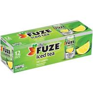Fuze Diet Lemon Iced Tea Fridge Pack Cans, 12 Ounce (Pack Of 12)