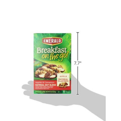 Emerald Breakfast On The Go! Apples And Cinnamon Oatmeal Nut Blend, 7.5 Ounce (Pack Of 8)