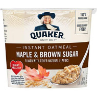 Quaker, Instant Oatmeal Express, Maple Brown Sugar, 1.69 Oz