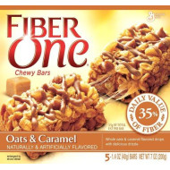General Mills, Fiber One, Chewy Bars, Oats And Caramel, 7Oz Box (Pack Of 6)