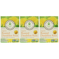 Traditional Medicinals Organic Roasted Dandelion Root, 16 Count (3 Pack)