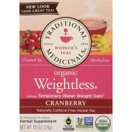 Traditional Medicinals Tea Weightless Cranberry, 16 Bags