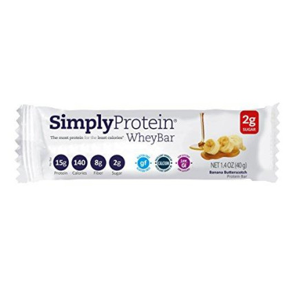 Simplyprotein Whey Bar, Banana Butterscotch, Pack Of 12, Gluten Free