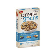 Post Great Grains Blueberry Morning Cereal, 13.5 Oz. Box (2 Pack)