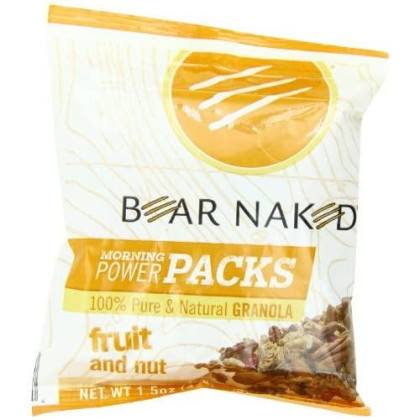 Bear Naked Morning Power Packs Granola, Fruit And Nut, 7.5 Ounce [Pack Of 3 Boxes,15 1.5Oz Pouches Total]