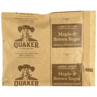 Quaker Instant Oatmeal Lower Sugar Maple & Brown Sugar - 10 Ct