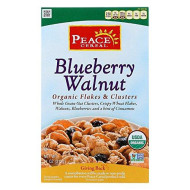 Peace Cereal Organic Flakes & Clusters Blueberry Walnut 11 Oz (Pack Of 6)