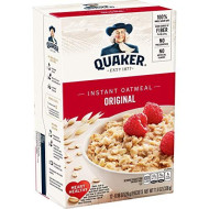 Quaker Instant Oatmeal, Original, Breakfast Cereal, 12 Packets