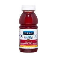 Thick-It Clear Advantage Thickened Cranberry Juice Blend - Moderately Thick/Honey Bottle, 8 Fl Oz (Pack of 24)