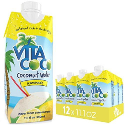 Vita Coco Coconut Water, Lemonade - Naturally Hydrating Electrolyte Drink - Smart Alternative To Coffee, Soda, And Sports Drinks - Gluten Free - 11.1 Ounce (Pack Of 12)
