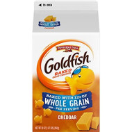 Pepperidge Farm Goldfish Baked with Whole Grain Cheddar Crackers, 30 oz. Carton (Pack of 6)