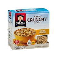 Quaker Warm & Crunchy Granola Honey Almond 13.5 Oz (Pack Of 6)