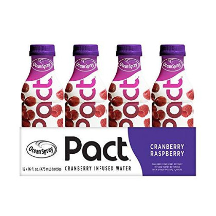 Ocean Spray Pact Cranberry Raspberry Infused Water, 16 Fl. Oz Bottle (Pack Of 12)