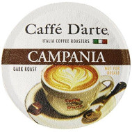 Caffe D'Arte Single Serve Coffee, Campania, 12 Count