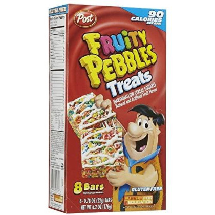 Post Fruity Pebbles & Marshmallow Cereal Bar Treats (Pack Of 3) 8 Count Boxes