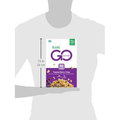 Kashi Go, Breakfast Cereal, Toasted Berry Crisp, Good Source Of Protein And Vegan, 14Oz Box