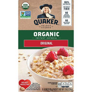 Quaker Instant Oatmeal, Organic Regular, 8 Oz