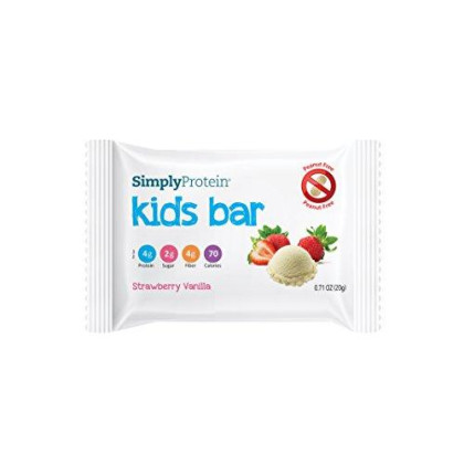 Simplyprotein Kids Bar, Strawberry Vanilla, Gf And Vegan - (0.7 Oz, Pack Of 12)
