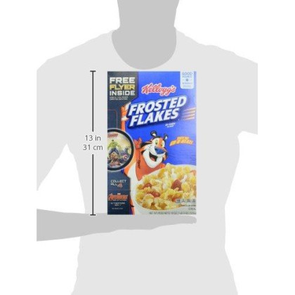 (Discontinued Version) Kellogg'S Breakfast Cereal, Frosted Flakes, Fat-Free, 19 Oz Box