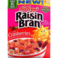 Kellogg'S Raisin Bran With Cranberries - 13.5 Oz (Pack Of 2)