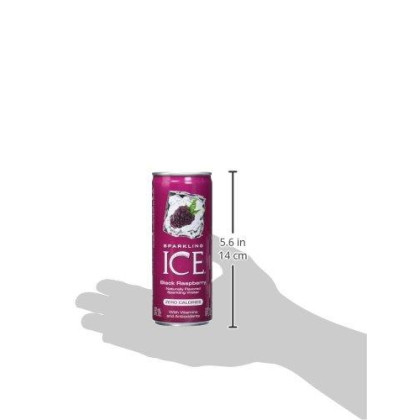 Sparkling Ice Fridge Pack, Black Raspberry, 8 Count (Pack Of 3)