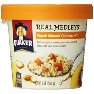 Quaker Oats Real Medleys Peach Almond Oatmeal Plus Cereal, 2.64 Ounce