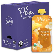 Plum Organics Stage 2, Organic Baby Food, Banana And Pumpkin, 4 Ounce Pouch (Pack Of 6)