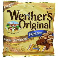 Werther's Original Sugar Free Candies, Caramel Chocolate, 2.35 Ounce (Pack of 4) by Werther's