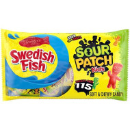 Sour Patch Kids Candy & Swedish Fish Candy Variety Pack, Valentine'S Candy, 115 - 0.5 Oz Snack Packs