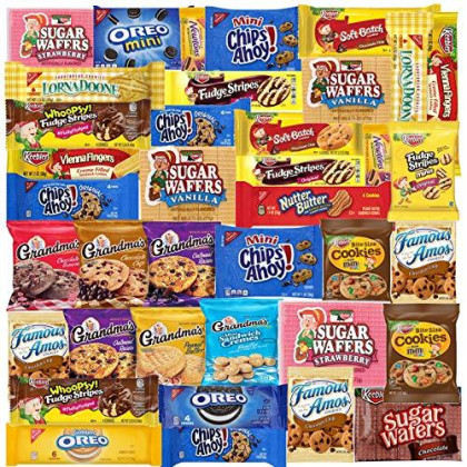 Cookies - 40 Packs - Variety Pack - Individually Wrapped Assortment Including: Oreos, Keebler, Grandma'S Cookies, Chips Ahoy And Much More Of Your Favorite Cookies