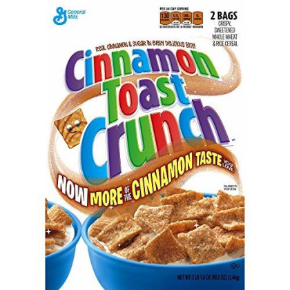 Cinnamon Toast Crunch Cereal, 49.5 Oz. (Pack Of 6)