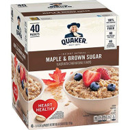Quaker Instant Oatmeal Maple Brown Sugar - 40ct (Pack of 3)