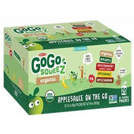 GoGo SqueeZ Organic Applesauce Variety Pack, 20 ct./3.2 oz. (pack of 2)
