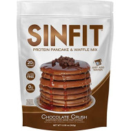 Sinfit (Sinister Labs) Protein Pancake And Waffle Mix, Chocolate Crush, 20G Whey Isolate, Whole Grain, Oat Flour, No Added Sugar (11.5 Oz Bag - 1 Pack - Packaging May Vary)
