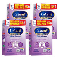 Enfamil NeuroPro Gentlease Baby Formula Milk Powder For Easing Gas & Crying, Vitamins & Minerals, 30.4 Ounce, (Pack of 4)