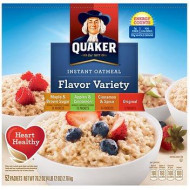 Quaker Instant Oatmeal Variety Pack, 52 pk./1.46 oz. AS