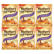 Set of 6 - 2.22oz Werthers Cocoa Creme Soft Caramel Sweets Perfect for a Valentine's Day Gift ? Savory Delicious Treats to Show Them Your Love and Appreciation ?
