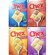 Chex - Blueberry, Cinnamon, Honey Nut, Vanilla - Variety Pack Of 4 Cereal Bundle