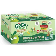 GoGo Squeez Organic Applesauce On-The-Go Variety Pack! Apple, Cinnamon, Strawberry, Banana, (20 Count Variety)