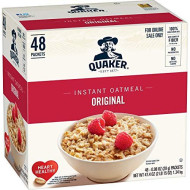 Quaker Instant Oatmeal, Original, 48 Count, 0.98 oz Packets
