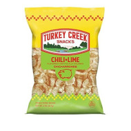 Turkey Creek - America?S Best Fried Pork Skins, Offers A 12-Bag Straight Pack Of Its Chili-Lime Pork Rinds. These Pork Skin Chips(Chicharrones) Are Packed With Chili-Lime 12 - 2.0 Oz Bags.