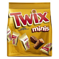 TWIX Caramel Minis Size Chocolate Cookie Bar Candy 9.7 Ounce Bag (Pack of 8)