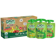 GoGo squeeZ Organic Applesauce, Variety Pack (Apple/Banana/Strawberry), 3.2 Ounce (12 Pouches), Gluten Free, Vegan Friendly, Unsweetened, Recloseable, BPA Free Pouches