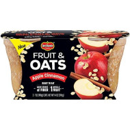 Del Monte Fruit And Oats Snack Cups, Apple Cinnamon, 84 Oz, (Pack Of 6)